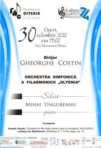 2020 10 30 GHEORGHE COSTIN. 206x300 Concert online  Haydn/Beethoven poze