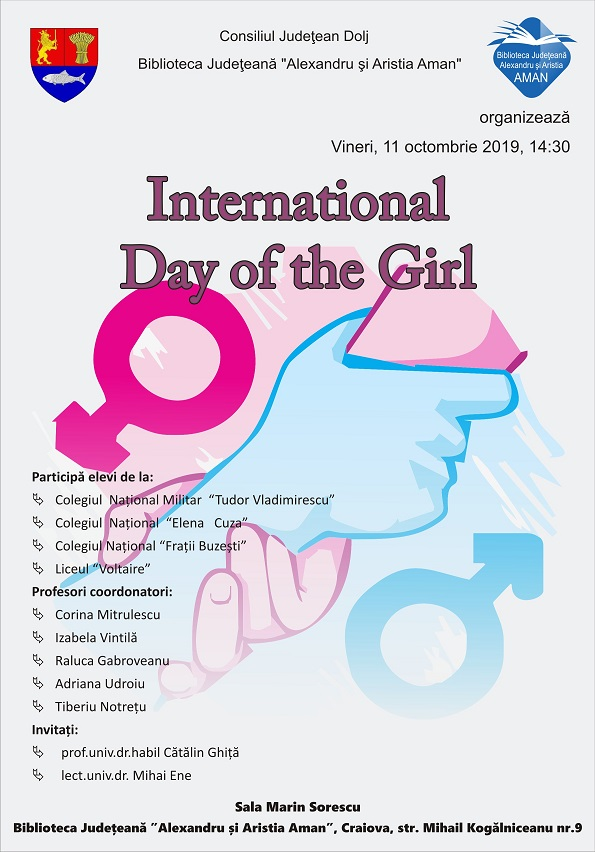 afis 11 octombrie 1 International Day of the Girl, la Aman poze