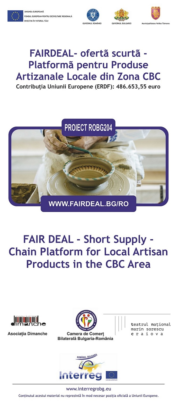 roll up Fair 1 1 FAIRDEAL   Short supply: Chain Platform for Local Artisan Products in the CBC Area poze